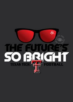 Future's So Bright Charcoal Long Sleeve Tee, red raider outfitters