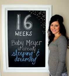 one day, charts, chalkboards, 16 week, at home, idea, pregnancy, babi, homes