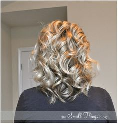 Curling iron not working for you? Try curling your hair with a flat iron - From The Small Things Blog