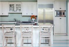 Casual Transitional Kitchen by Tobi Fairley