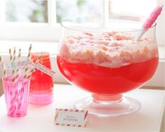 Pink Lemonade Sherbet Punch