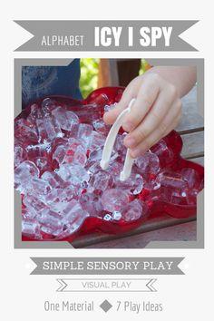 Simple Sensory Play | Icy Alphabet I Spy - Lemon Lime Adventures