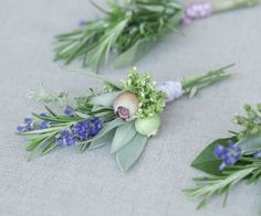 DIY Herbal Wedding Boutonnieres | Simply Natural Events