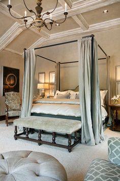 beauti bedroom, romantic bedrooms, color, dream, canopy beds