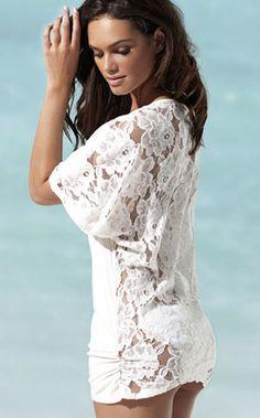 Cute lacey bikini cover-up