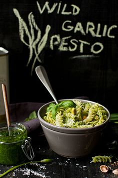 Keep the vampire at bay with this delicious sounding dish of Wild Garlic Pesto Fusilli #food #yummy +++Visit http://www.thatdiary.com/ for guide + advice on #lifestyle