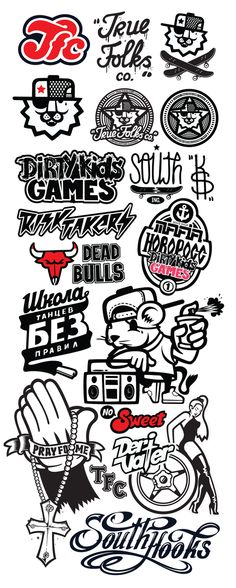 Logos Icons Characters by Konstantin Shalev, via Behance