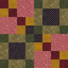 Sew Four Square, Another Pattern in My Easy Quilt Block Series