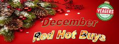 Hurry in and pick up some of these super HOT Red Hot Deals from Yeagers and Ace Hardware this month!