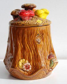 Mushroom Ceramic Cookie Jar