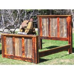Country Roads Reclaimed Wood Bed - JHE's Log Furniture Place