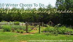 10 Winter Chores To Do Before Your Spring Garden. #gardening