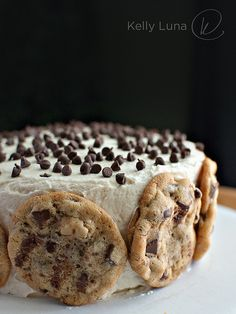 cookie cake birthday, chocolate chips, cookie dough, chip cooki, birthday cookie cakes