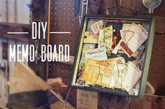diy memo board from #gypsymoments