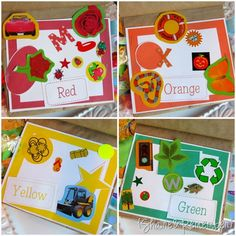 This lady has AWESOME printables to help you make this beautiful book about colors