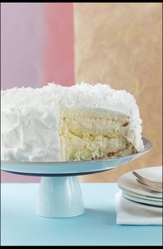 This is the AMAZING coconut cake from Halekulani in Hawaii.