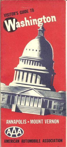 Vintage Washington DC Map 1940's