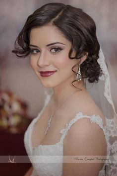 Flawless Wedding Make Up, Spanish vintage styled.  http://marielacampbell.com