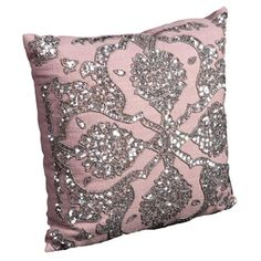 Pink and sequin pillow