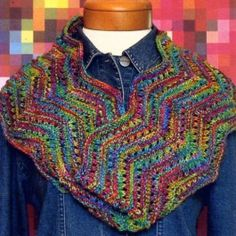 Mountain Colors Zig Zag Cowl pattern uses 1 skein Mountain Colors Twizzle yarn