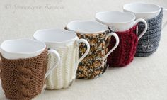 Sweaters for cups | Proven Kitchen kitchens, sweaters, patterns, cups, mug cozy, christmas, coffe cozi, mugs, proven kitchen