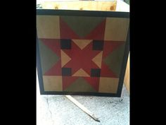Painted-barn-quilt-framed