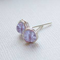 lavender earrings nickel free silver plated by collscreations, $8.00