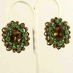 Vintage 1960s Earrings Statement Renaissance Revival by Revvie1, $12.00