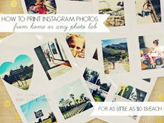 How To Print Your Own Instagram Photos {Free Template}