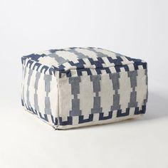 Kew Dhurrie Pouf - contemporary - ottomans and cubes - West Elm