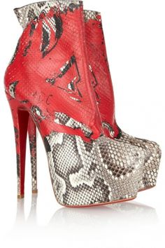 Christian Louboutin 20th Anniversary Daf 160 python boots ~ Price: $2695.00