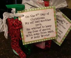 Cute 12 Days of Christmas idea from Marci Coombs.