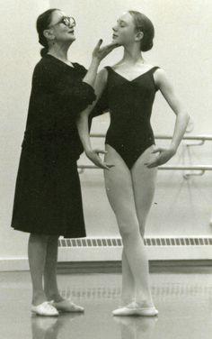 A young Sarah Lamb with her mentor, Tatiana Legat (courtesy Sarah Lamb for Dance Spirit)