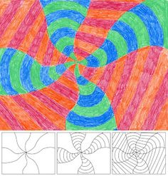 Art Projects for Kids: Op Art Swirl