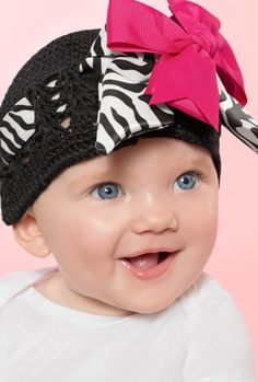 Show off your daughter'€™s stylish side with this adorable DIY Zebra Hat!