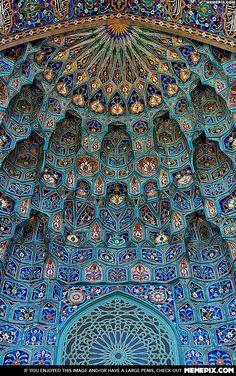 Inside the Saint Petersburg Mosque