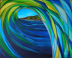 Stainglass wave Www.bobbybossart.com Check it out!!