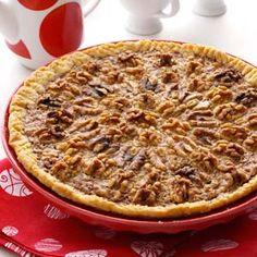 ... -Caramel Walnut Pie Recipe shared by Ruth Ealy of Plain City, Ohio