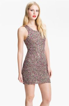 Parker Rainbow Sequin Cutout Dress available at Nordstrom
