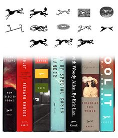 Client: Knopf  Designers: Various  Description: The famous Knopf Borzoi logo changes with nearly each book jacket design, depending on the needs and whims of the jacket designer.