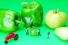 The Green Vegetables Little People On Food, by Paul Ge.