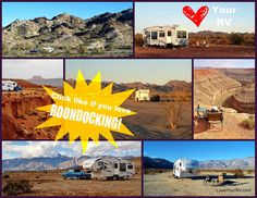Love Your RV and get out there and do some Boondocking! http://loveyourrv.com/love-your-rv-boondocking-basics/