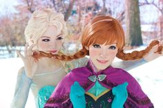 stunning Frozen Cosplay-- I really want to do a couple shoots like this so much fun!! cosplay couple, frozen elsa, costum, stun frozen, yuurisan cosplay, beauti anna, frozen cosplay, elsa cosplay, disney frozen
