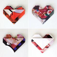 Magazine Paper Hearts via the paper pony blog #thepaperpony