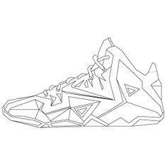 lebron shoes drawing images source gallery4sharecom - Lebron James Shoes Coloring Pages