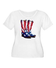 Loving this White Patriotic Boots Tee -
