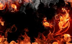 Fire In Art Abtract backgrounds
