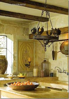 Tuscan Style Kitchen ~ A rustic beauty!