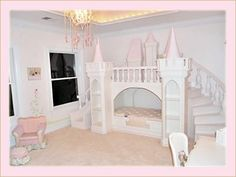 One of a kind VIP Fairy Tale Princess Palace Bed.. Wonder if matt could build this???