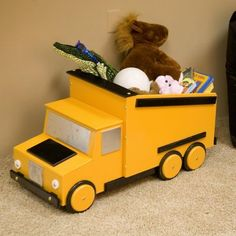 Just Kids Stuff Dumptruck Toy Chest Yellow - TC 408-YELLOW $209.99 toy chest, truck, boy rooms, children toys, baby toys, toy boxes, kids, little boys rooms, kid stuff